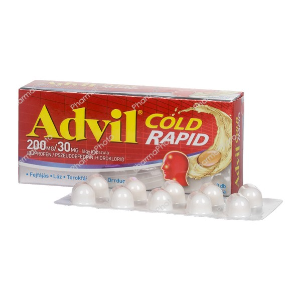 Advil Cold Rapid 200 mg30 mg kapszula 10x476713 2017 tn